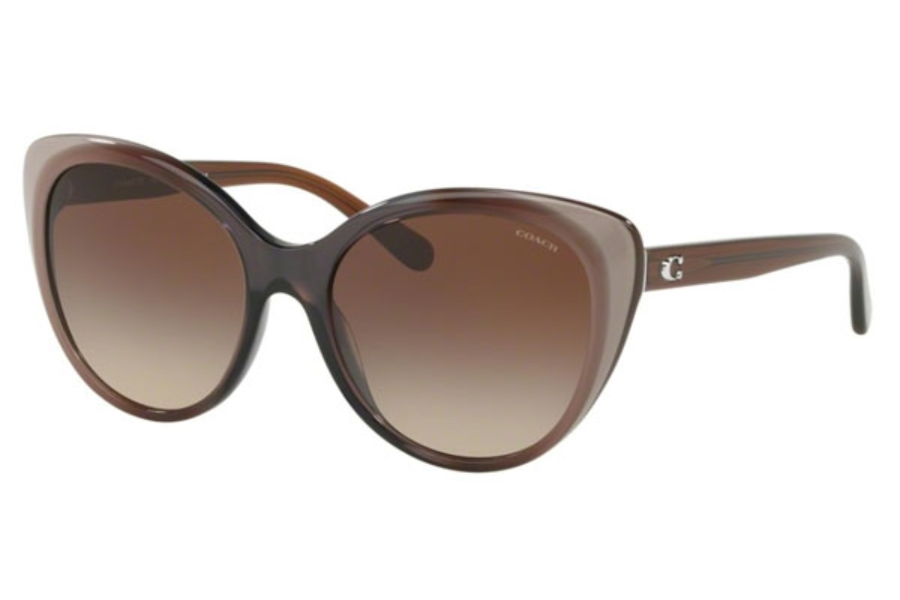 Coach HC8260F Sunglasses in 553413 Taupe Laminate / Smoke Gradient