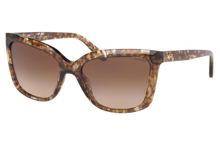 Coach HC8261 Sunglasses in 556274 Brown Tortoise / Brown Gradient