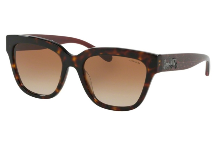 Coach HC8262F L1076 Sunglasses in 512013 Tortoise w/Brown Gradient