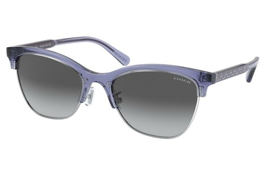 Coach HC8277 L1113 Sunglasses in 55708G Transparent Lilac / Gray Gradient
