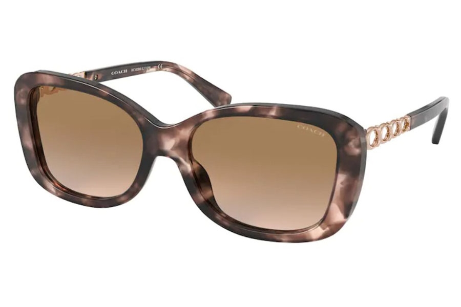 Coach HC8286 Sunglasses in 559013 Pink Tortoise / Brown Pink Gradient