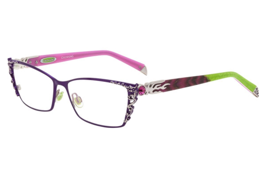 Coco Song Right Glory Eyeglasses in 02 Violet/Green
