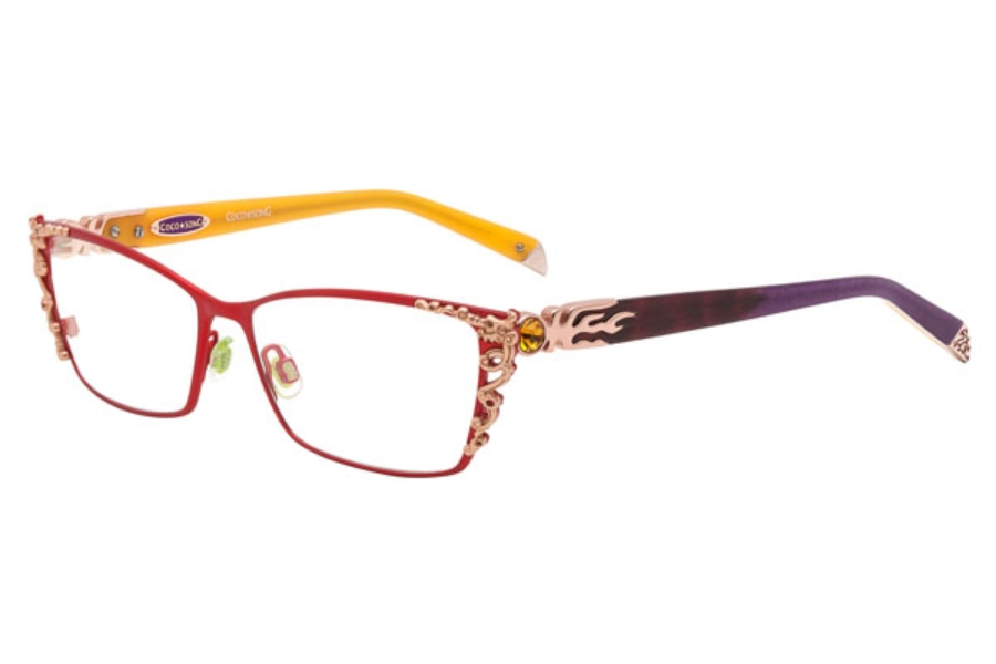 Coco Song Right Glory Eyeglasses in 03 Red/Violet
