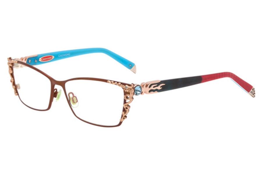 Coco Song Right Glory Eyeglasses in 04 Brown/Red