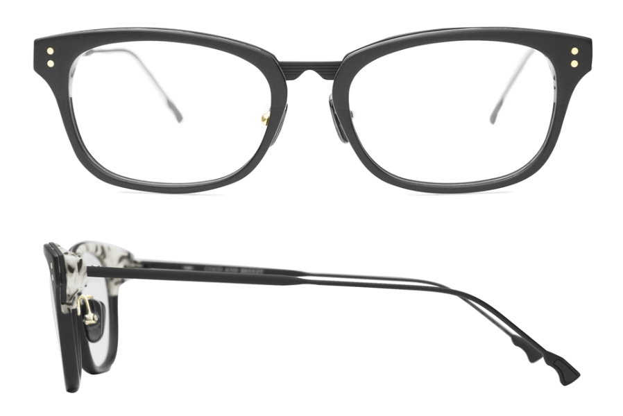 Coco and Breezy Munster Eyeglasses in 103 Mat Black Cream Marble