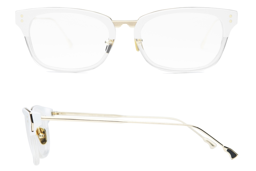 Coco and Breezy Munster Eyeglasses in 102 White Crystal Gold
