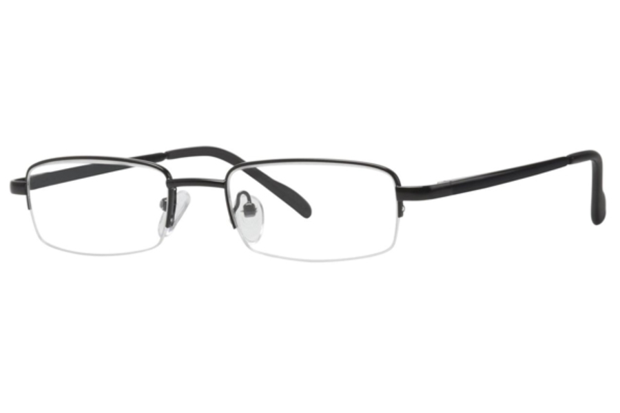 Comfort Flex Dustin Eyeglasses in Black/Silver
