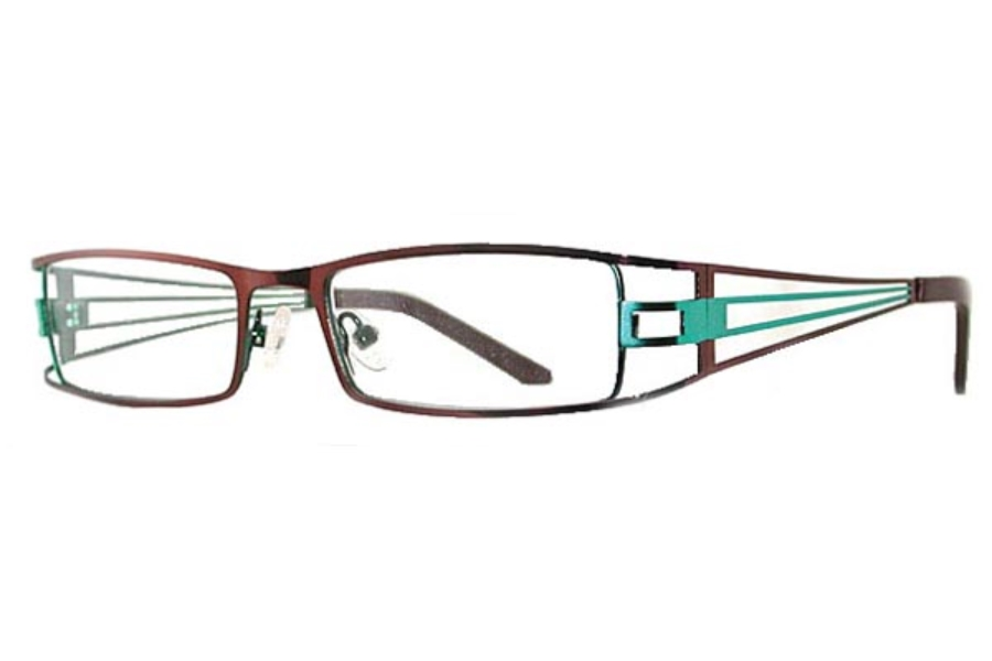 Cougar Brick House Eyeglasses in Amber/Turquoise