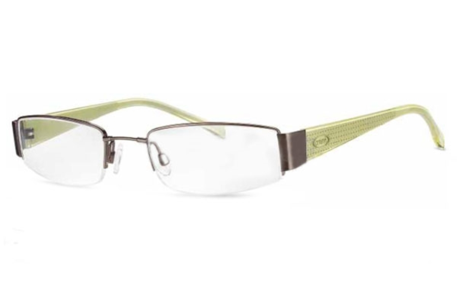 Crush 850031 Eyeglasses in Shiny Brown/Vibrant Moss Trans (60)