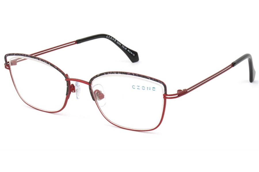 C-Zone Q2243 Eyeglasses in 30 Red/Black