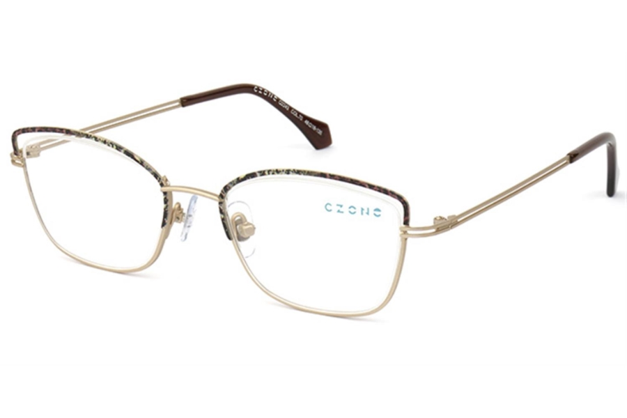 C-Zone Q2243 Eyeglasses in 70 Gold/Brown