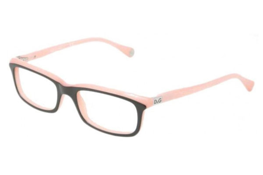 D&G DD 1214 Eyeglasses in 1878 Black on Pink