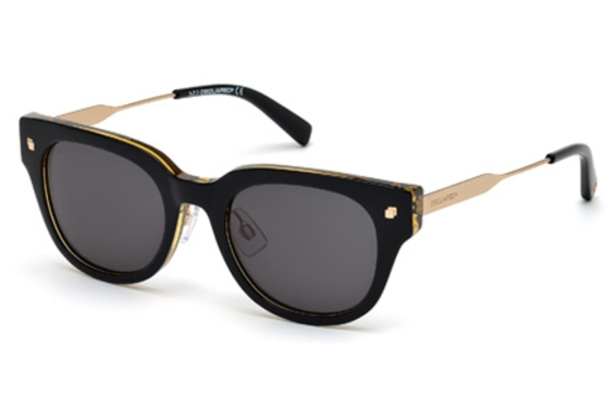 Dsquared DQ0140 Sunglasses in 05N Black / Other / Green