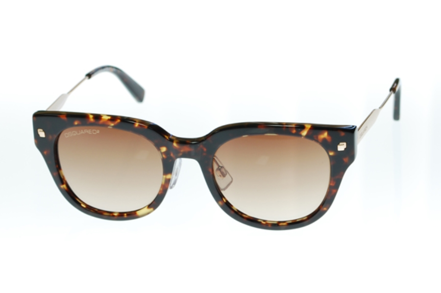 Dsquared DQ0140 Sunglasses in 55F Havana/Brown Gradient