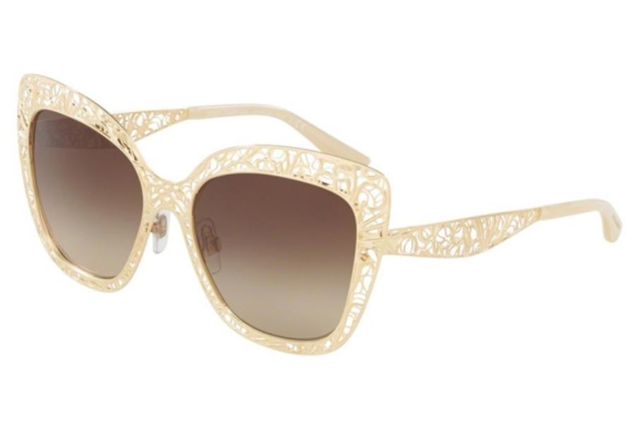 9712e65d59e8 Dolce & Gabbana DG 2164 Sunglasses in 02/13 Gold / Brown Gradient  (Discontinued ...