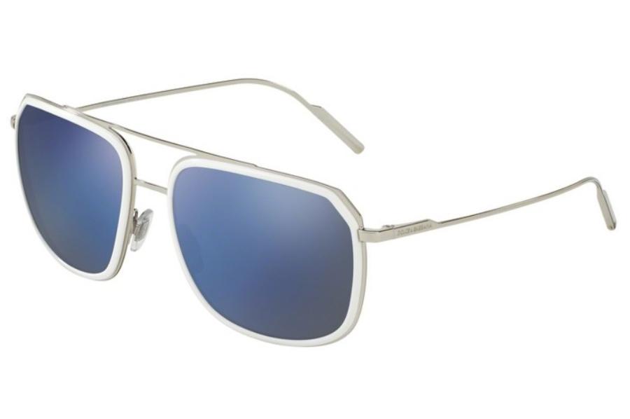 63ca712647d ... Dolce   Gabbana DG 2165 Sunglasses in 05 Y7 White Silver   Standard ...