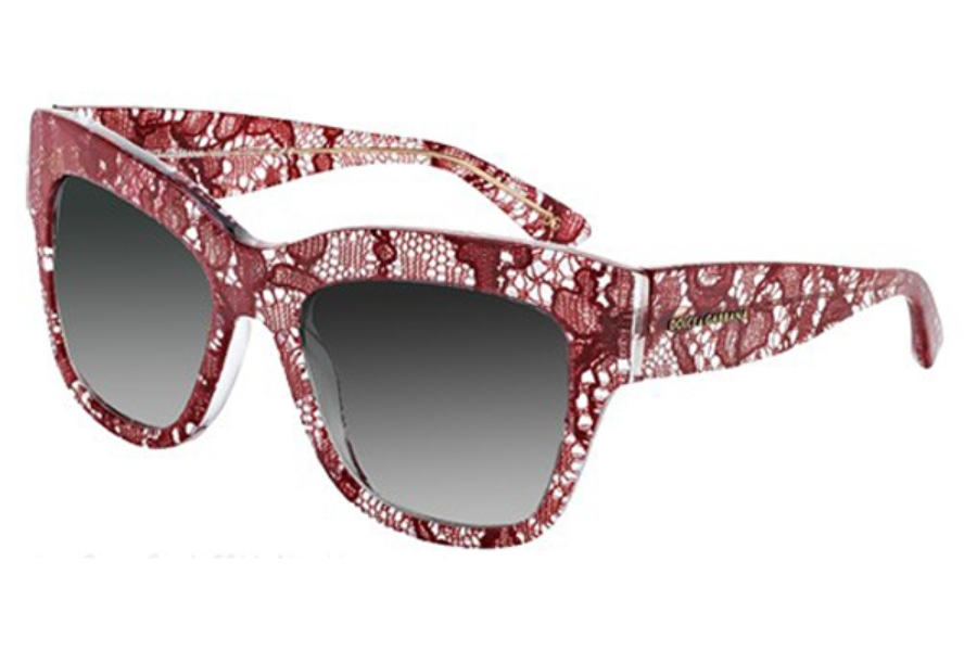 Dolce & Gabbana DG 4231 Sunglasses in 28528G Red Lace Grey Gradient