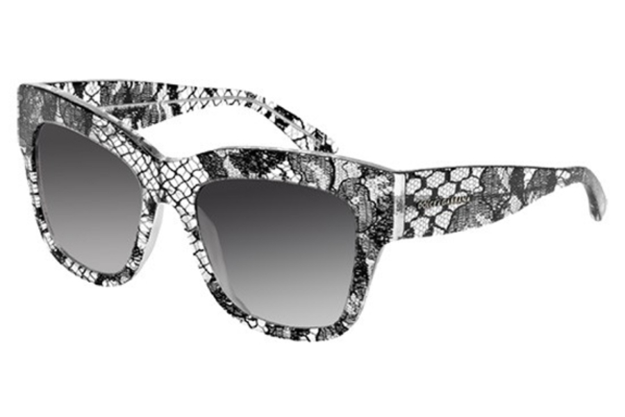 Dolce & Gabbana DG 4231 Sunglasses in 28548G Black Lace Grey Gradient