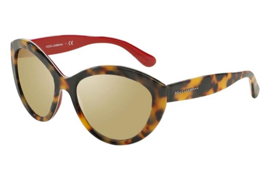 6d707d365132f ... Dolce   Gabbana DG 4239 Sunglasses in 28936G Top Havana On Red Light  Brown Mirror Dark ...