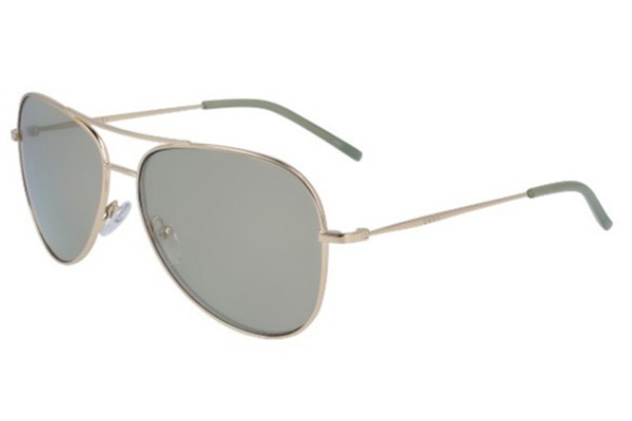 DKNY DK 102S Sunglasses in 718 Gold With Sage Flash