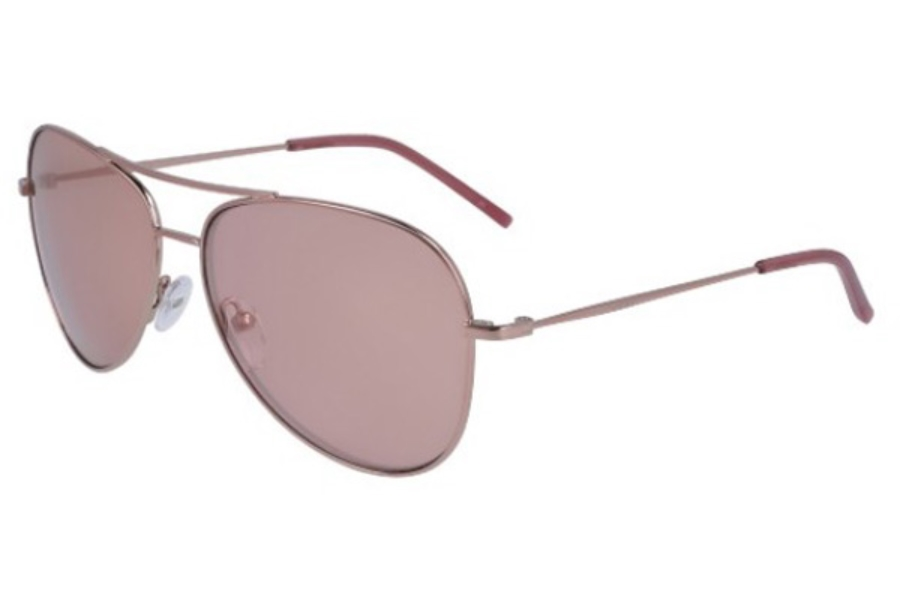 DKNY DK 102S Sunglasses in 770 Rose Gold