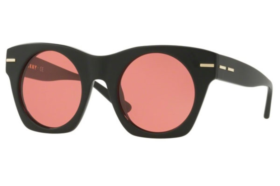 DKNY DY 4148 Sunglasses in 371184 Matte Black / Red Solid