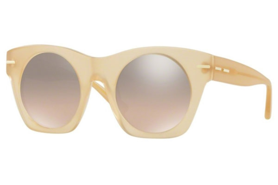 DKNY DY 4148 Sunglasses in 37308Z Matte Light Beige / Brown Gradient Flash Mirror