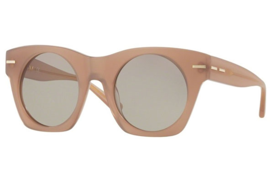 DKNY DY 4148 Sunglasses in 37403 Matte Translucent Blush / Light Smoke Solid
