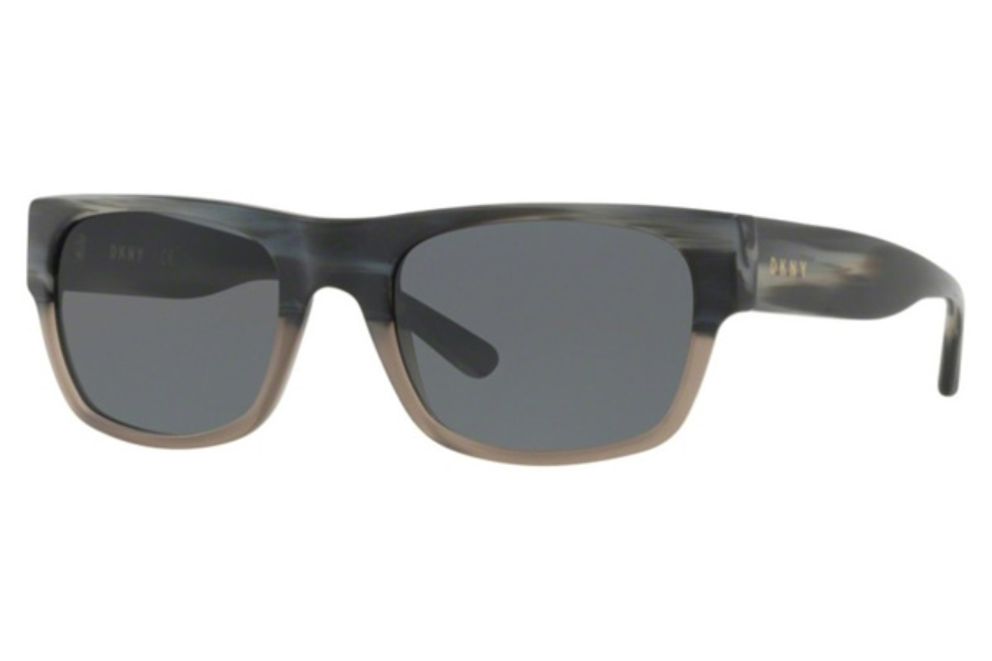 DKNY DY 4150 Sunglasses in 374887 Matte Black Grey Horn / Grey Solid