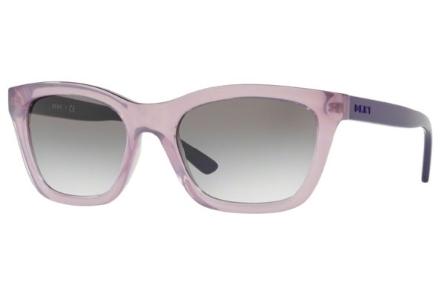 DKNY DY 4158 Sunglasses in 37888E Transparent Pink / Blue Gradient