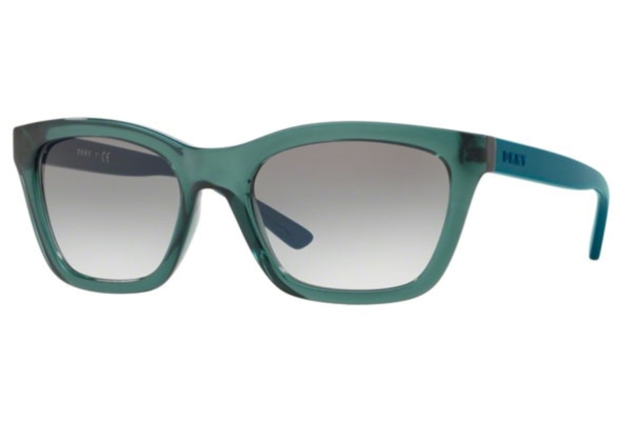 DKNY DY 4158 Sunglasses in 37898E Transparent Teal / Blue Gradient