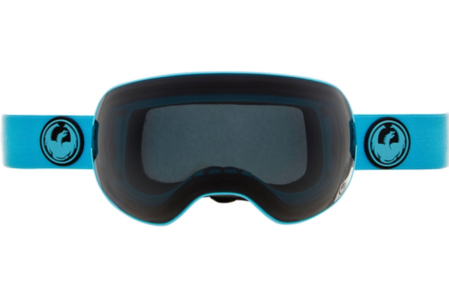 Dragon X2 Goggles in BLUE w/ DARK SMOKE + YELLOW BLUE ION