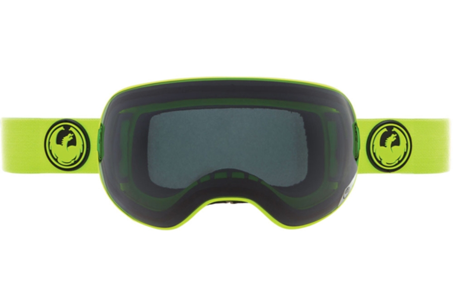 Dragon X2 Goggles in GREEN w/ DARK SMOKE + YELLOW BLUE ION