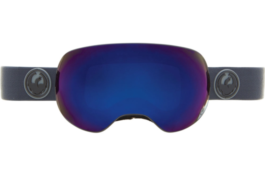 Dragon X2 Goggles in GREY MATTER w/ DARK SMOKE BLUE + YELLOW RED