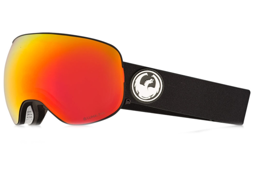 Dragon X2 - Continued II Goggles in Black / Lumalens Red Ion + Lumalens Rose
