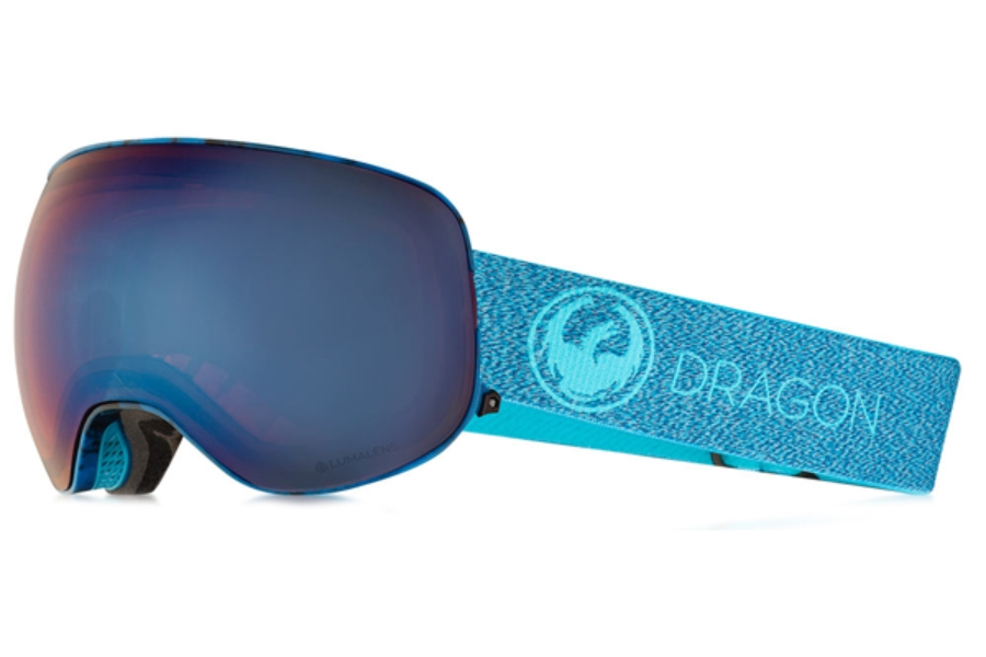 Dragon X2 - Continued II Goggles in Mill / Lumalens Blue Ion + Lumalens Amber