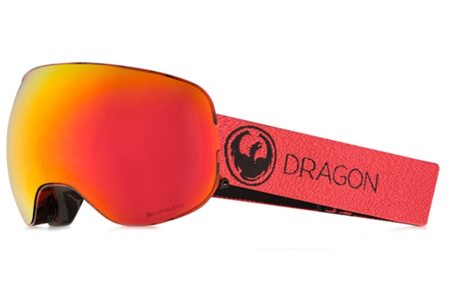 Dragon X2 - Continued II Goggles in Mill / Lumalens Red Ion + Lumalens Rose