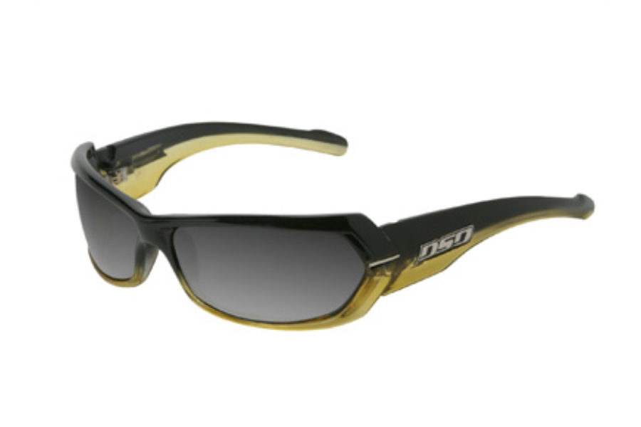 DSO Eyewear Chopper Sunglasses in CH-9813G Black to Yellow Fade Smoke Gradient Lens