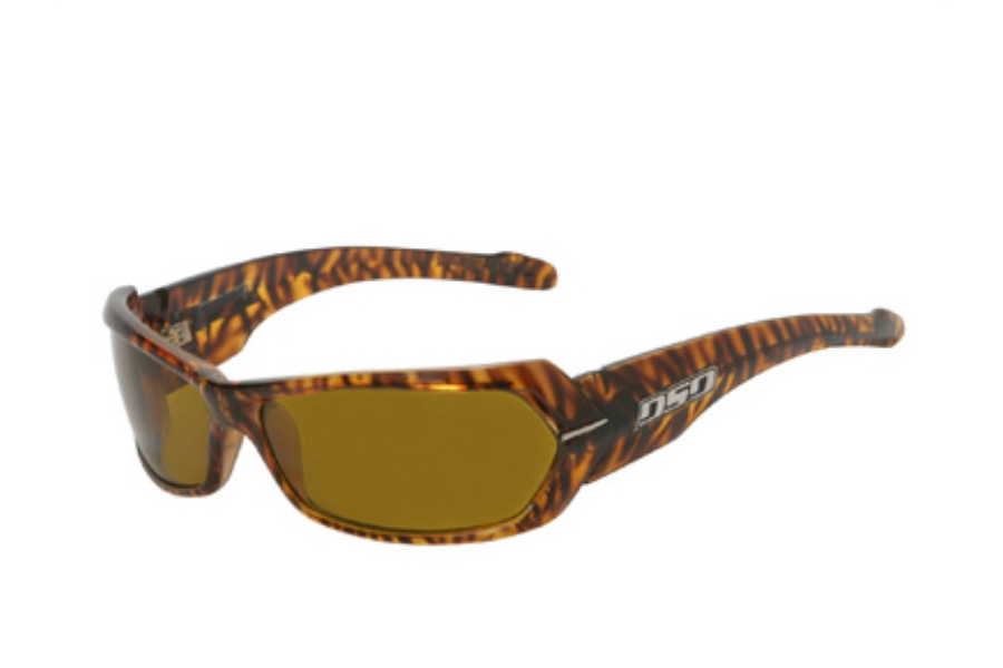 DSO Eyewear Chopper Sunglasses in CH-P0814 Shiny Striped Tortoise Amber Polarized Lens