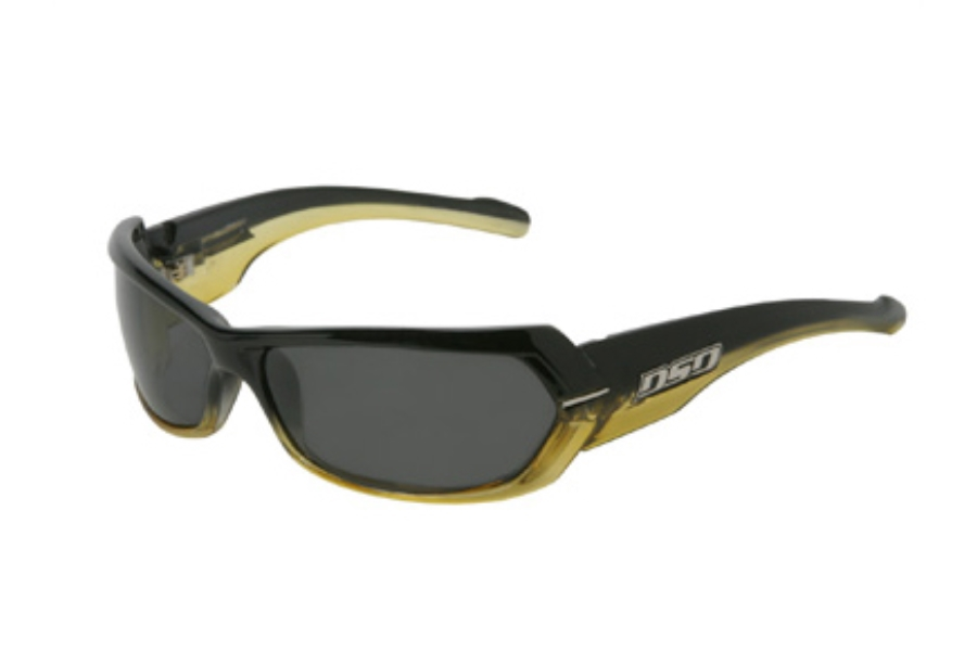 DSO Eyewear Chopper Sunglasses in CH-P9813 Black to Yellow Fade Smoke Polarized Lens