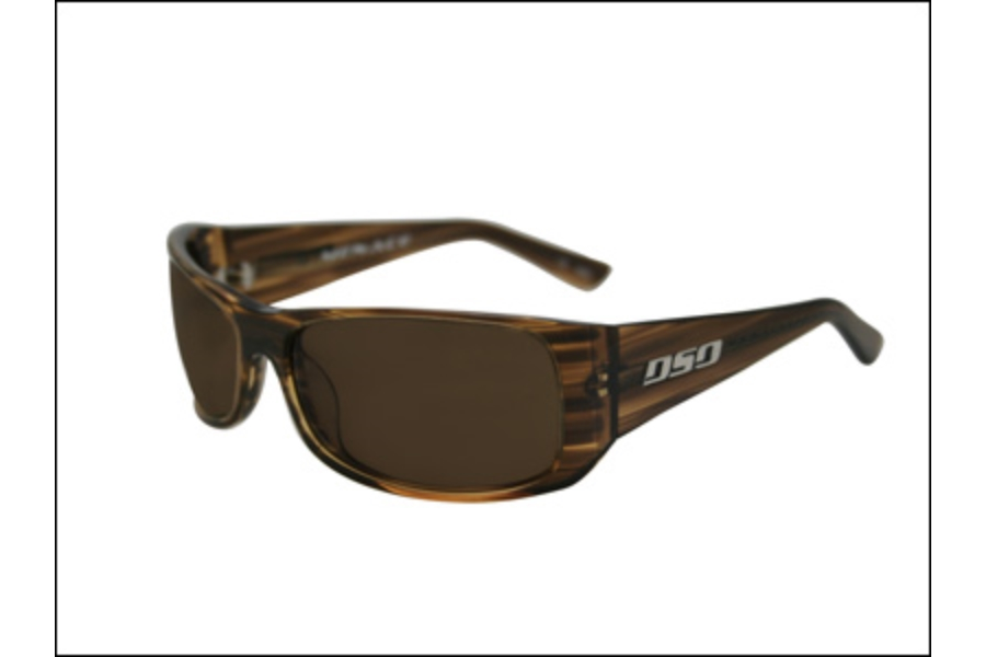 DSO Eyewear Menace Sunglasses in ME-P0914 Brown Streak Amber Polarized Lens