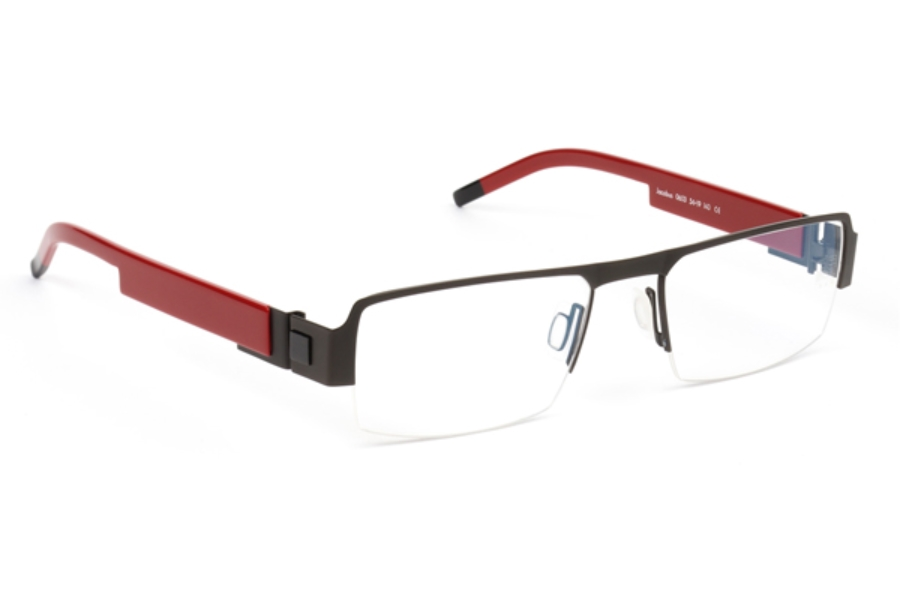 De Stijl Jacobus S06 Eyeglasses in 0603 Black/ Red