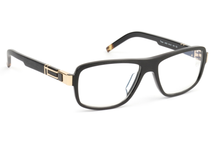 De Stijl Theo S16 Eyeglasses in 1620 Brushed Matte Black