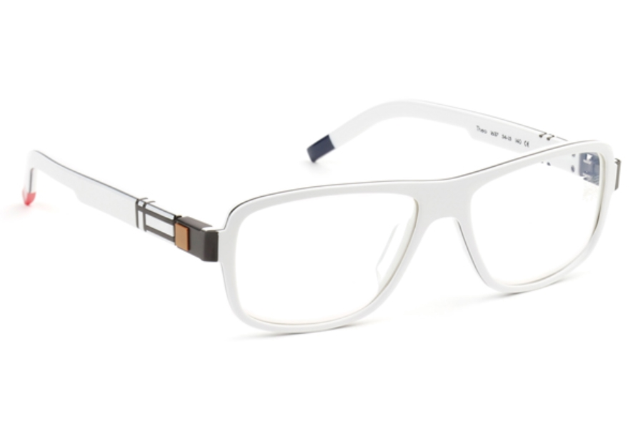De Stijl Theo S16 Eyeglasses in 1637 White