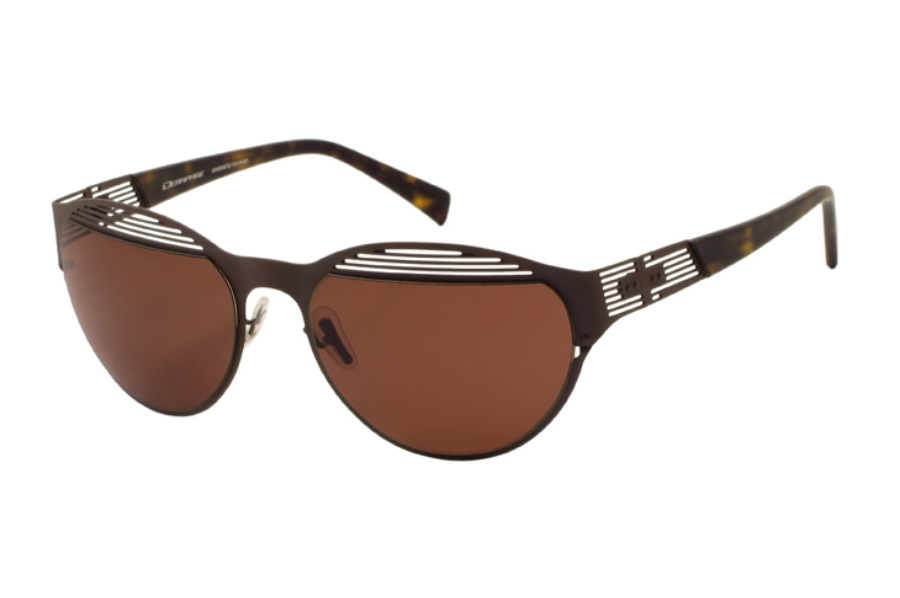 Derapage Tornado HP 13 Sunglasses in C906 Brown Rubber Touch