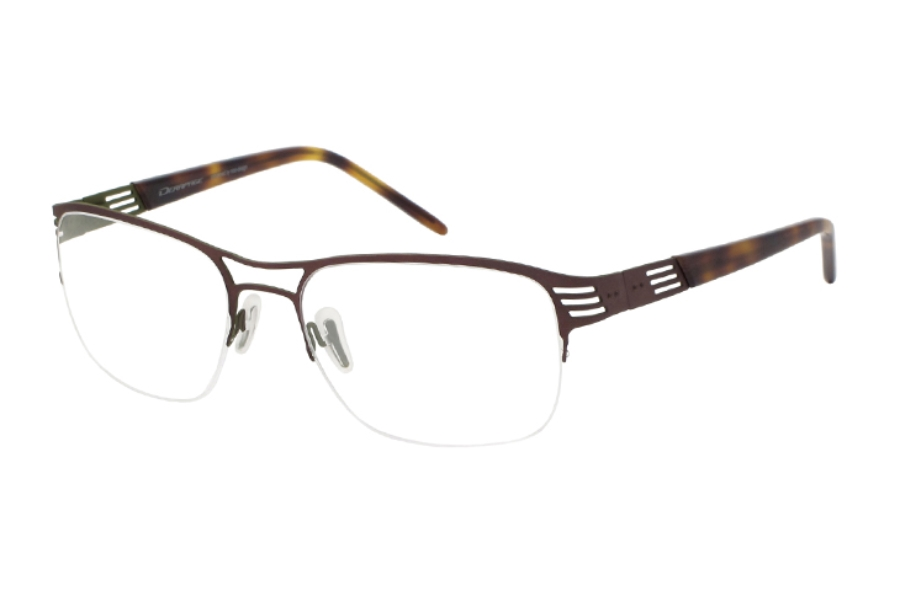 Derapage Tornado PC 04 Eyeglasses in C966 - brown/green rubber touch