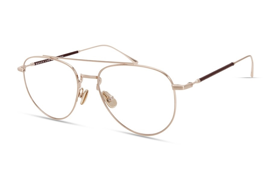Derek Lam 290 Eyeglasses in Brushed Copper /Burgundy