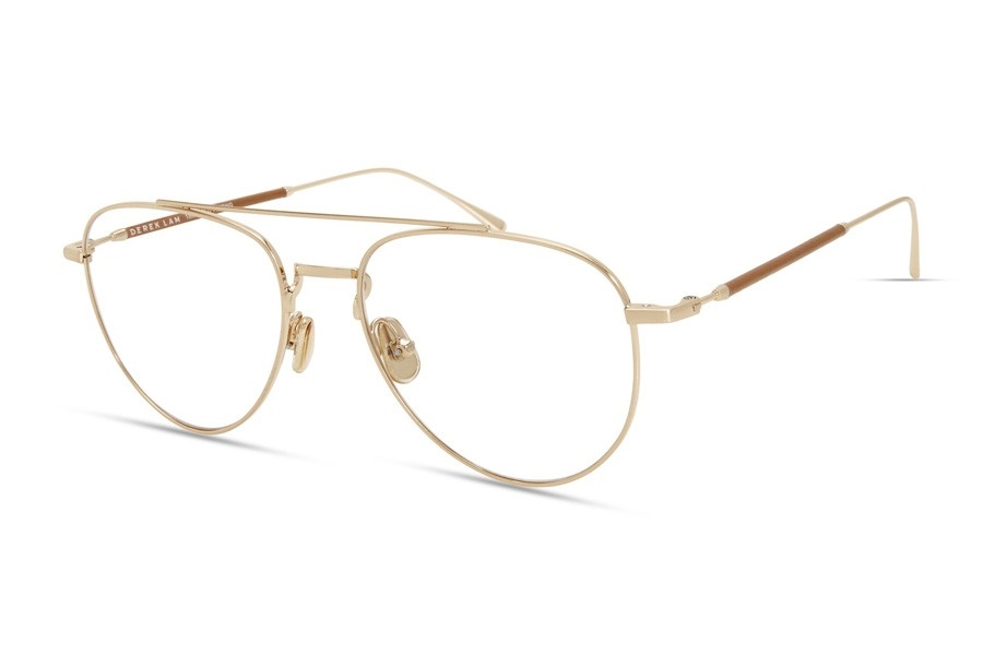 Derek Lam 290 Eyeglasses in Brushed Gold / Tan