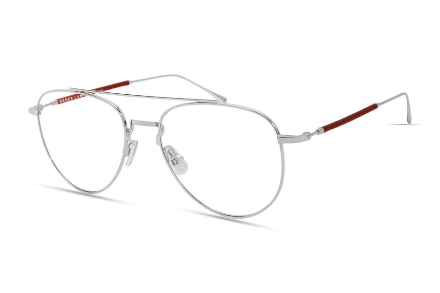 Derek Lam 290 Eyeglasses in Silver / Red