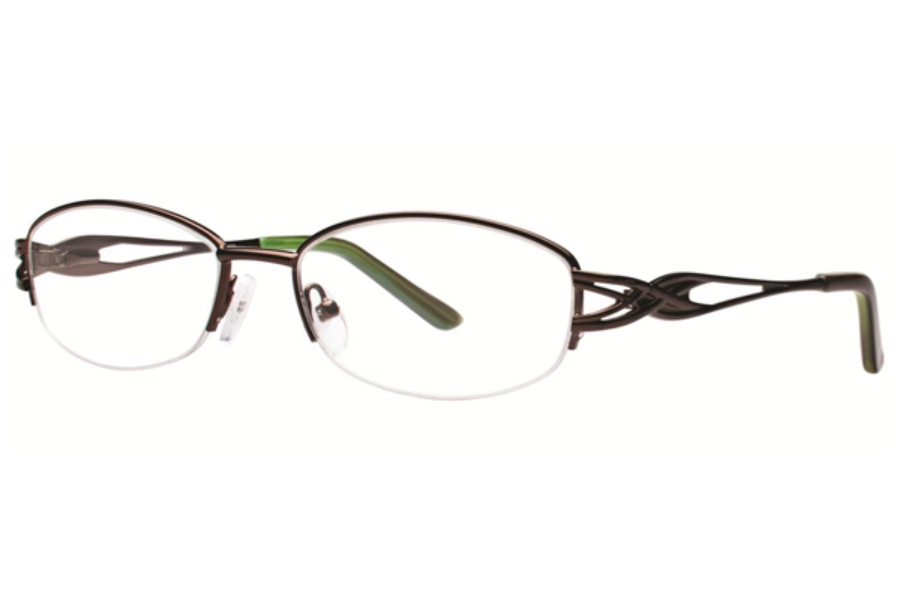 Destiny Lexine Eyeglasses in Brown